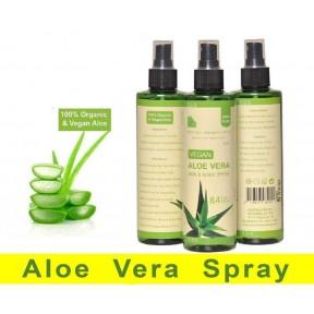 Смягчающий Гель-спрей алоэ вера плюс 100% органический и веганский. Для лица, волос и тела , можно использовать  после бритья, для любой кожи. Из Германии