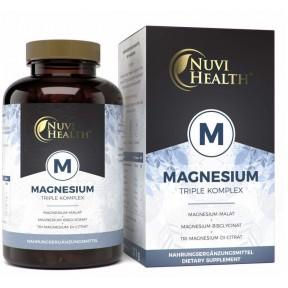 Комплекс МАГНИЯ, запас на 8-9 МЕСЯЦЕВ, 240 Капсул, Бисглицинат Магния-Цитрат Магния-Малат Магния, укрепляет кости, зубы, нервную систему, сердце, 100% чистота, ИЗ ГЕРМАНИИ