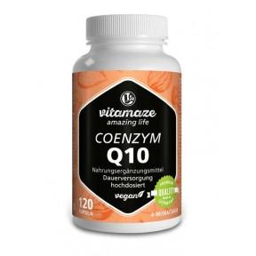 Коэнзим Q10 200 мг в высокой дозе, 120 веганских капсул. антивозрастной фермент для омоложения кожи. Продукт из Германии