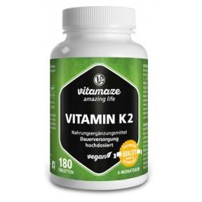 Витамин К2 в высокой дозе! ЗАПАС НА 6-7 МЕСЯЦЕВ! 200 мкг. Активная форма витамина и наилучшая биодоступность! Из Германии