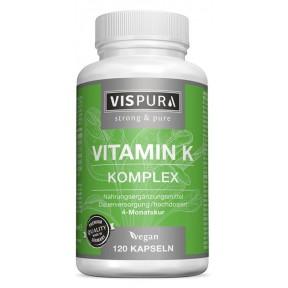 Витамин K комплекс, высокой дозы K1 + K2 Menaquinon MK4 MK7, ЗАПАС НА 4 МЕСЯЦА! Высокая биодоступность! Без добавок! Из Германии