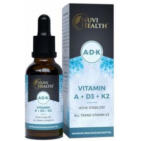 Витамин Д3 + К2 + A - ОЧЕНЬ большое количество в бутыльке - 50 мл на 2 года! Содержит витамин  Д3 + К2 в каждой капле! Дозировка 1000 единиц D3 + 20 микрограмм витамина K2. Продукт из ГЕРМАНИИ