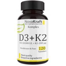 D3 10.000 I. E. + 200 мкг К2 - ОЧЕНЬ большое количество - 120 таблеток!  ХВАТАЕТ НА 4-5 МЕСЯЦЕВ ПРИЁМА! Продукт из ГЕРМАНИИ