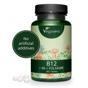 ВИТАМИН B12 - Активная форма- метилкобаламин + B9 и витамин B6. Большое количество в банке. 1 упаковки ХВАТАЕТ НА 1 ГОД ПРИЁМА!