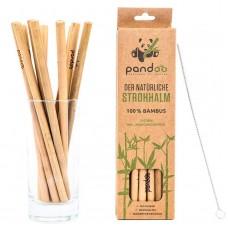 Соломинки (трубочки) для питья. 12 штук, из 100% бамбука, включая щетку для чистки, многоразовые и экологически чистые. 100% биоразлагаемые. Из Германии