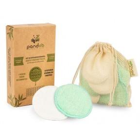 Ватные диски из бамбука и хлопка для чистки лица, 10 штук, многоразовые. Заменяют традиционные одноразовые салфетки. Из Германии