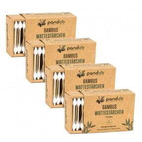 Бамбуковые ватные палочки для гигиенических целей 220 шт с головкой безопасности. Не имеют запаха, кроме того, они изготовлены без красителей, химии или пластика. Из Германии
