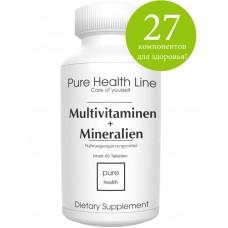 УНИКАЛЬНЫЙ комплекс предоставляет вам 27 различных витаминов и минералов и все в ОДНОЙ простой маленькой таблеточке из ГЕРМАНИИ