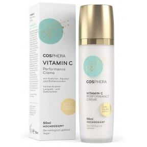 Эффективный  (Performance) крем - Vitamin C и гиалуроновая кислота, веган, увлажняющий дневной и ночной крем для лица, шеи, глаз-против морщин, для женщин и мужчин, 50 мл. из Германии