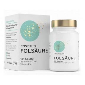 Комплекс фолиевой кислоты  800 мкг фолата (метафолин - В9) и 25 мкг витамина B12 на таблетку. Cодержит 800 мкг (мкг) натуральной фолиевой кислоты. Германия.