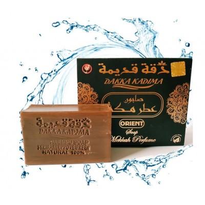 Оригинальное Мыло Алеппо сделано в Сирии! Dakka Кадима Premium Edition (Mekkah Perfume) с очень высоким содержанием Oud, Amber и Musk из Германии
