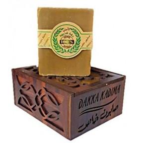 Натуральное и уникальное Мыло Алеппо Дакка Кадима Limited Edition-уд, янтарь, мускус и шафран, в благородной деревянной коробке. Из Германии.