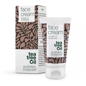 Увлажняющий крем для лица с маслом чайного дерева. Очень эффективен против прыщей, нечистой кожи и угрей. Для всех типов кожи. Из Германии