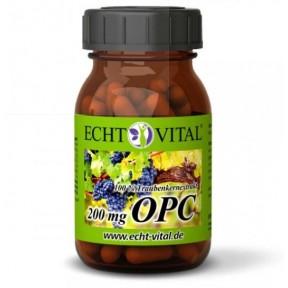 100% экстракт виноградных косточек из французского винограда, натуральные чистые вещества без добавок содержит 200 мг чистого OPC в 1 капсуле. Из Германии