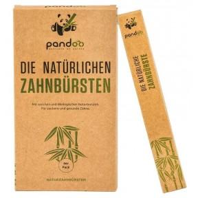 Экологичная ручная зубная щетка для взрослых и детей, 4 шт. Идеальная замена пластиковым или деревянным! Прочная и надежная для каждодневного применения. Из Германии