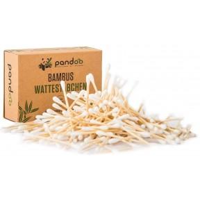 Бамбуковые ватные палочки, для гигиенических целей, 800 шт., 100% биоразлагаемы и изготовлены только из органически выращенного бамбука. Из Германии