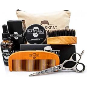 Уход за бородой. Набор для мужчин. Масло + бальзам + ножницы + щетка + гребень + косметическая сумка. Качественный, идеальный подарок для мужчины! Из Германии