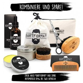 """Уход за бородой """"Weichmacher"""", мужской набор. Масло жожоба, ромашка и алоэ вера. Гребень + щетка + мешочек. Наивысшее качество продуктов! Идеальный подарок! Из Германии"""