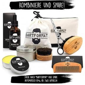 """Набор для ухода за бородой """"Cut Wunder"""" - XL ножницы для бороды + трафарет для бритья + щетка для бороды + мужская «косметическая» сумка. Наивысшее качество продуктов! Из Германии"""