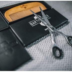 """Набор для ухода за бородой """"KURZMAKER"""" - ножницы для бороды 16 см и гребень для бороды. Идеальный подарок для мужчин! Качественный продукт из Германии."""