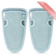 Перчатки для пилинга. 2 шт. LoWell + 2 присоски с крючком. Щадящее очищение для эластичной кожи. с высококачественными натуральными фасками. Из Германии