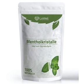 Кристаллы ментола, из 100% чистого масла мяты, для саун. Оказывает охлаждающее, успокаивающее, противозудящее, болеутоляющее и освежающее действие. Проверено и упаковано в Германии.