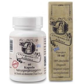 Эфирное масло орегано Softgels. Антибактериальное, противовирусное. 500 мг на капсулу, 80% карвакрол. 60 касул + 1 пакет масло Athina 1 x 10 мл. ЗАПАС НА 12 МЕСЯЦЕВ! Из Германии