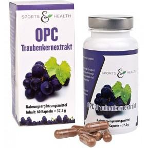 Экстракт виноградных косточек, высокой дозы, сертифицированные капсулы ОРС. На 350 мг чистого OPC на веганскую капсулу. ЗАПАС НА 3-4 МЕСЯЦА. Сделано в Германии