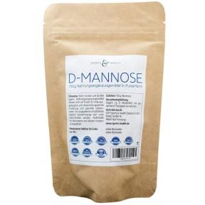 D-Mannose порошок. 150g. в пакете. Сделано в Германии как веганская и натуральная основа + ложка для дозирования. Примерно 75 порций ЗАПАС НА 3-4 МЕСЯЦА. Из Германии