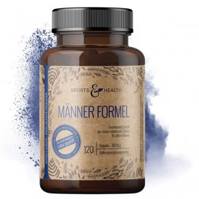 Комплекс для мужчин. Натуральный продукт. L-аргинин, витамины B 6, В 9, В 12, Е, витамин D, цинк. ЗАПАС НА 3-4 МЕСЯЦА! L-аргинин в высокой дозе 3000 мг на капсулу. Из Германии