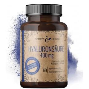Гиалуроновая кислота высокой дозы, 400 мг на капсулу, Для суставов, кожи и против старения. 100% ЧИСТОТА ПРОДУКТА. ЗАПАС НА 3-4 МЕСЯЦА! Без лактозы и клейковины. Из Германии