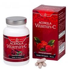 Натуральный витамин С из вишни Ацеролы. Без нежелательных добавок! Веган. 100% ЧИСТОТА ПРОДУКТА. ЗАПАС НА 3-4 МЕСЯЦА! Сертифицированный продукт. Из Германи