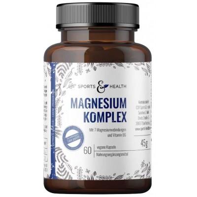 Комплекс магния, высокой дозы, с 7 соединениями: Хлорид Магния, Цитрат Магния, Витамин B6. VEGAN. Без стеарата магния. 100% ЧИСТОТА ПРОДУКТА. ЗАПАС НА 2-3 МЕСЯЦА! Из Германии