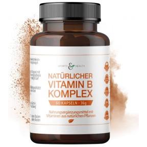 Комплекс витаминов группы В. ЗАПАС НА 2-3 МЕСЯЦА! Из Германии. Все витамины группы из 100% натуральных растительных экстрактов. Капсулы высокой дозы. Из Германии