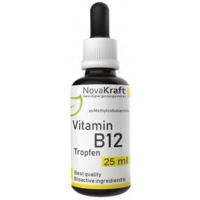 Витамин B12, КАПЛИ, метилкобаламин 100% веганский, БЕЗ алкоголя, 200 мкг на каплю, биодоступный, лабораторно проверенный, для нервной и иммунной системы, ИЗ ГЕРМАНИИ