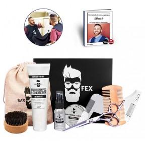 Мужской набор для ухода за бородой - 10 предметов. Подходит для любых типов волос и любой длинны. Уникальный мужской запах. Сделано в Германии. Идеальный подарок!