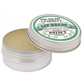 Mr. Bear Family Lip Balm Mint. Бальзам для губ мятный 15 мл. 100% натуральный и ручной работы бальзам для губ с освежающим ароматом мяты. ЗАПАС НА 5-6 МЕСЯЦЕВ! Из Германии