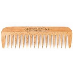 Расческа для волос бороды. Хорошо распутывает, ухаживает и формирует длинные и короткие волосы бороды. Из 100% древесины персика, полированная. Из Германии