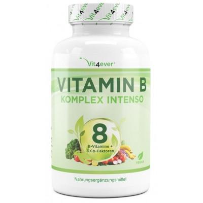 Комплекс Витамина В - 180 Капсул ЗАПАС НА 6 МЕСЯЦЕВ. Дозировка в 10 раз выше, чем другие комплексы! Премиум: с био-активными формами витамина B и фолата. ИЗ ГЕРМАНИИ
