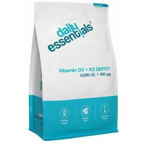 Натуральный витамин D3 - Д3 5000 I. E + витамин К2 100 мкг Менакинон MK7 - ЗАПАС НА 8-9 МЕСЯЦЕВ! 250 штук! Без стеарата магния, 100% чистота. Вегетарианский, содержит 100 мкг витамина K2 для правильного усвоения, Из Германии