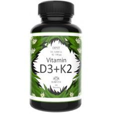Витамин D3 + K2 депо, ЗАПАС НА 3-4 МЕСЯЦА! ПРЕМИУМ! All Trans MK7 + 5000 единиц, ЛУЧШАЯ ЦЕНА, укрепляет иммунитет, кости, восстанавливает клетки, 100% чистота, Из Германии