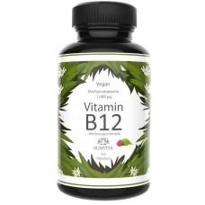 Витамин B12 – 1000 μg ЗАПАС НА 3-4 МЕСЯЦА! Активный метилкобаламин, таблетки для рассасывания, вкус малины, веганский, высокая доза, улучшает память, даёт энергию. Из Германии