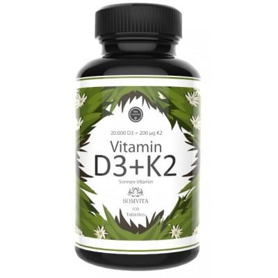 Витамин D3+K2, 20 тысяч D3 и 200 мкг K2, Восполняет дефицит, помогает избавиться от депрессии, улучает состояние зубов, костей, повышает иммунитет, восстанавливает клетки. Из Германии. Запас на 3-4 МЕСЯЦА!