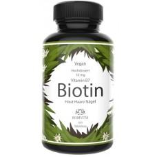 БИОТИН ЧИСТЫЙ – Витамин B7, ВЫСОКАЯ ДОЗА 1000 мкг, ЗАПАС НА 3-4 МЕСЯЦА, для красоты волос, укрепления ногтей и упругости кожи, ВЕГАН, 100% чистота, ИЗ ГЕРМАНИИ