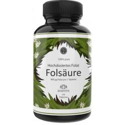 Активный Фолат (фолиевая кислота) – витамин B9, ЗАПАС НА 3-4 МЕСЯЦА! 100 штук в банке! Помогает снизить гомоцистеин, восстановить нервные клетки, 100% чистота ИЗ ГЕРМАНИИ