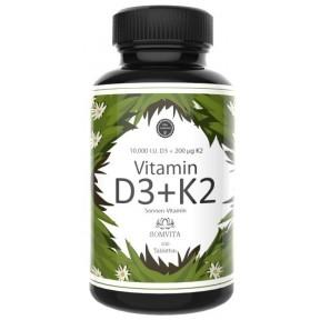 Витамин D3 10.000 I. E. + 200 мкг витамина К2 на 3-4 МЕСЯЦА. Укрепляет иммунитет, нервную систему, сердце, укрепляет сосуды и кости. 100% ЧИСТОТА ПРОДУКТА. Из Германии