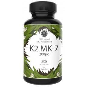Натуральный K2 MK-7 менахинон – 200 mcg, ПРАВИЛЬНАЯ ДОЗА! ЗАПАС НА 3 МЕСЯЦА! Улучшает метаболизм кальция, витамина D3, укрепляет сердце, кости и зубы. ИЗ ГЕРМАНИИ