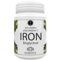 Железо в форме Бисглицината - 50 мг железа + 50 мг натурального витамина С. ЗАПАС НА 30 ДНЕЙ, 100% чистота продукта. Веганское качество. Повышает гемоглобин, иммунитет, снижает усталость. Из Германии.