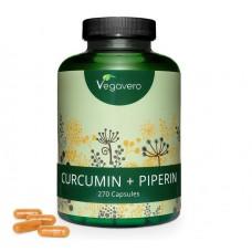 КУРКУМИН + ПИПЕРИН. БОЛЬШОЙ ЗАПАС на 4-5 МЕСЯЦЕВ, растительный, ВЫСОКАЯ КОНЦЕНТРАЦИЯ, снижает воспаления, помогает при простудах, инфекциях, акне. ИЗ ГЕРМАНИИ