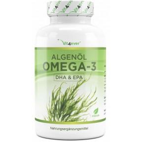 Омега-3 из масла водорослей, правильная доза, 100% растительное, без нежелательных добавок, для здоровья сердца, мозга и против воспалений, Запас на 3 МЕСЯЦА, из ГЕРМАНИИ